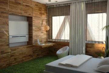 Оформленный в эко-стиле интерьер квартиры